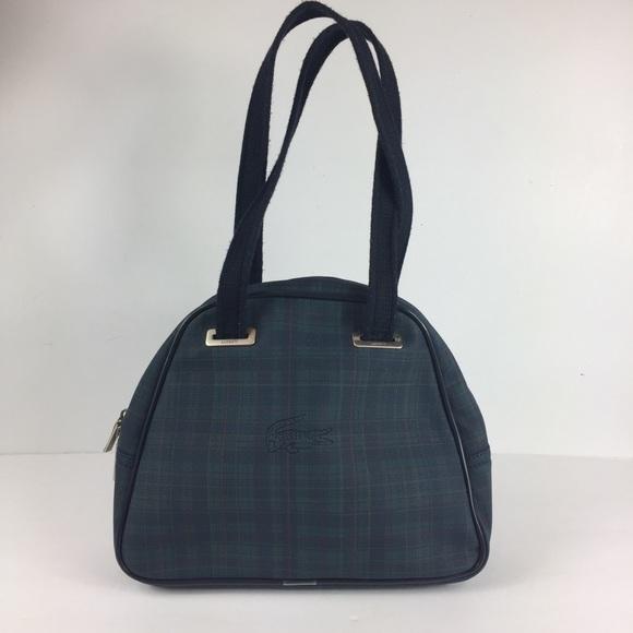 eeee80b092 Lacoste Handbags - Lacoste Tartan Plaid Tote Bag